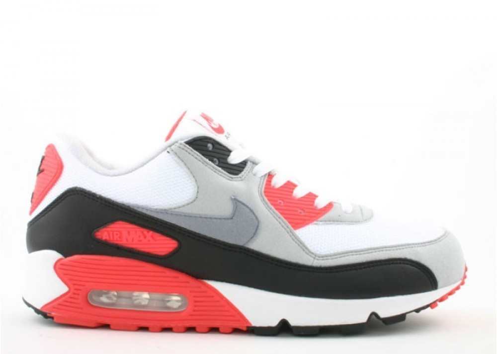 air max 90 bianche rosse