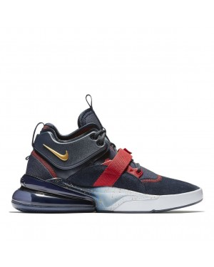 AH6772-400 Nike Air Force 270 Scarpe - Navy/Rosse/Oro