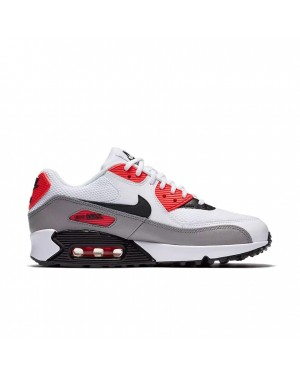 325213-132 Nike Donne Air Max 90 - Bianche/Dust/Rosse/Nere
