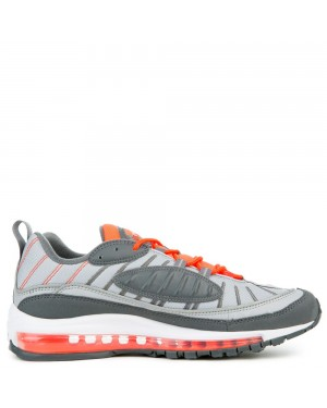 640744-006 Nike Air Max 98 Scarpe - Grigio/Grigio scuro/Total Crimson