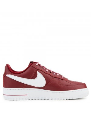 823511-605 Nike Air Force 1 '07 LV8 Scarpe - Rosse/Bianche