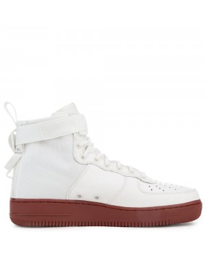 917753-100 Nike Sf Air Force 1 Mid Scarpe - Ivory/Ivory-Mars Stone