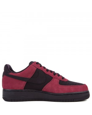 820266-605 Nike Air Force 1 Scarpe - Port/Port Wine-Bianche-Nere