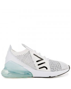 AH6803-100 Donne Air Max 270 Flyknit - Bianche/Nere/Pure Platinum