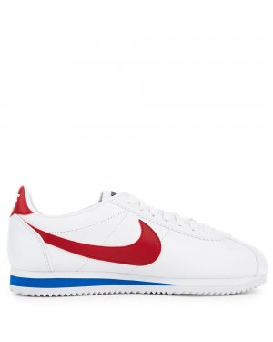 807471-103 Donne Classic Cortez Leather - Bianche/Rosse-Varsity Royal
