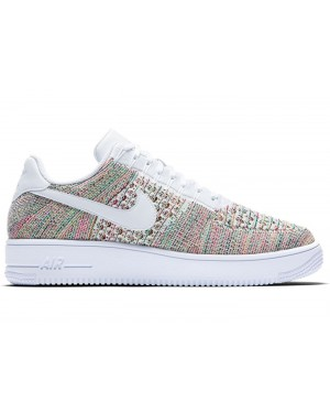 Nike Air Force 1 Flyknit Low Uomo Scarpe Gialle/Bright Crimson/Bianche 817419-701