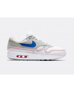 AV3735-002 Nike Air Max 1 By Day - Pure Platinum/Blu-Bianche
