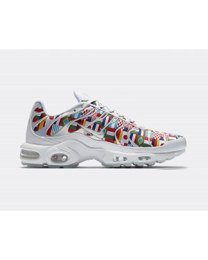 AO5117-100 Nike Air Max Plus NIC QS Scarpe - Bianche/Multi-Color