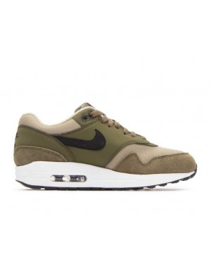 319986-304 Nike Donne Air Max 1 Scarpe - Olive Canvas/Nere-Olive