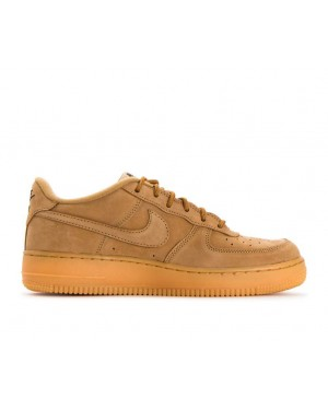 943312-200 Nike Air Force 1 Winter Premium GS - Flax/Flax-Verdi-Gialle