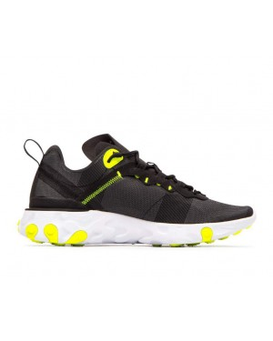 BQ2728-001 Nike Donne React Element 55 - Nere/Grigio-Volt-Grigio