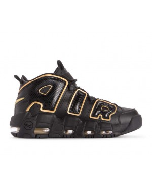 AV3810-001 Nike Air More Uptempo 96 Qs Scarpe - Nere/Metallic Gold