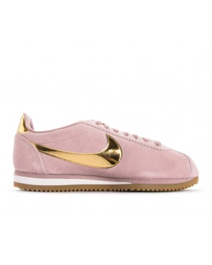 902856-204 Nike Donne Classic Cortez SE - Diffused Taupe/Metallic Gold-Phantom