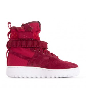 857872-601 Nike Donne Sf Air Force 1 - Rosse/Bianche-Burgundy