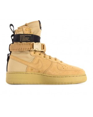 864024-700 Nike Sf Air Force 1 Scarpe - Oro/Oro-Nere