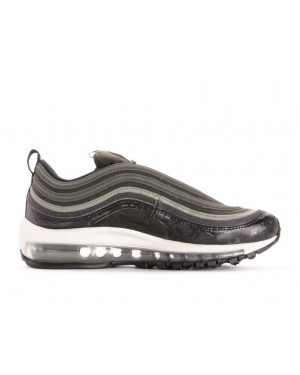 917646-300 Nike Donne Air Max 97 Premium - Sequoaia/Dark Stucco-Light Bone-Nere
