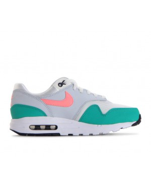 807602-105 Nike Air Max 1 GS - Bianche/Sunset Pulse/Verdi