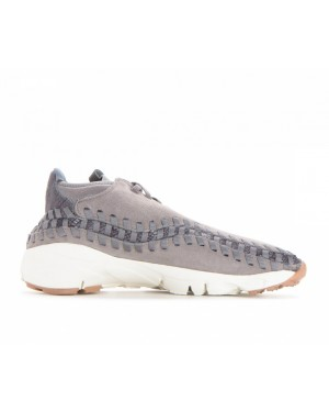 446337-003 Nike Air Footscape Woven Chukka Premium - Flat Pewter/Light Pumice-Gunsmoke
