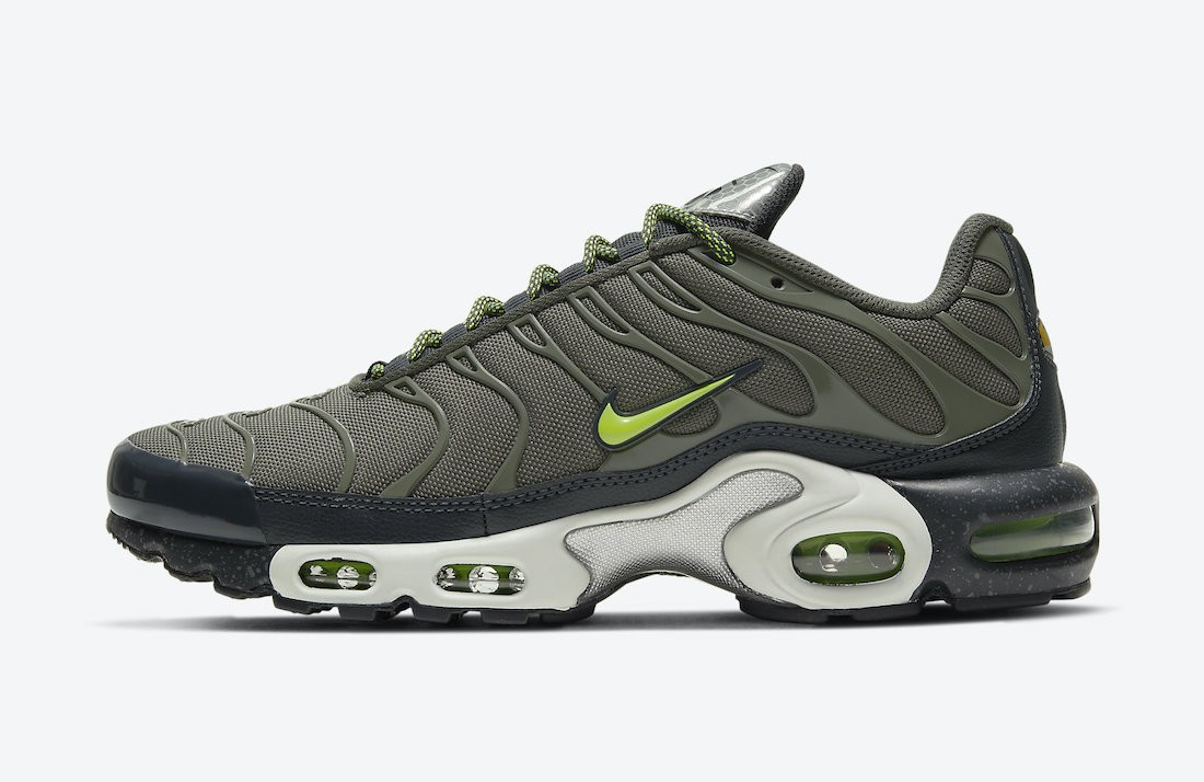 DB4609-300 3M x Nike Air Max Plus Uomo - Twilight Marsh/Anthracite-Bianche-Volt