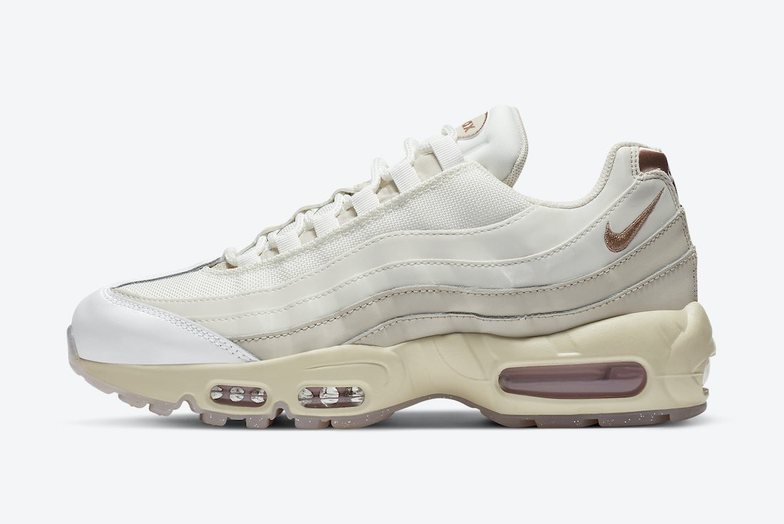 CT1897-100 Nike Donne Air Max 95 - Mountain Bianche/Light Redwood Marroni