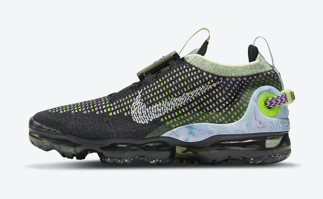 CT1933-001 Nike Donne Air VaporMax 2020 - Nere/Bianche-Barely Volt-Rosa-Royal Pulse