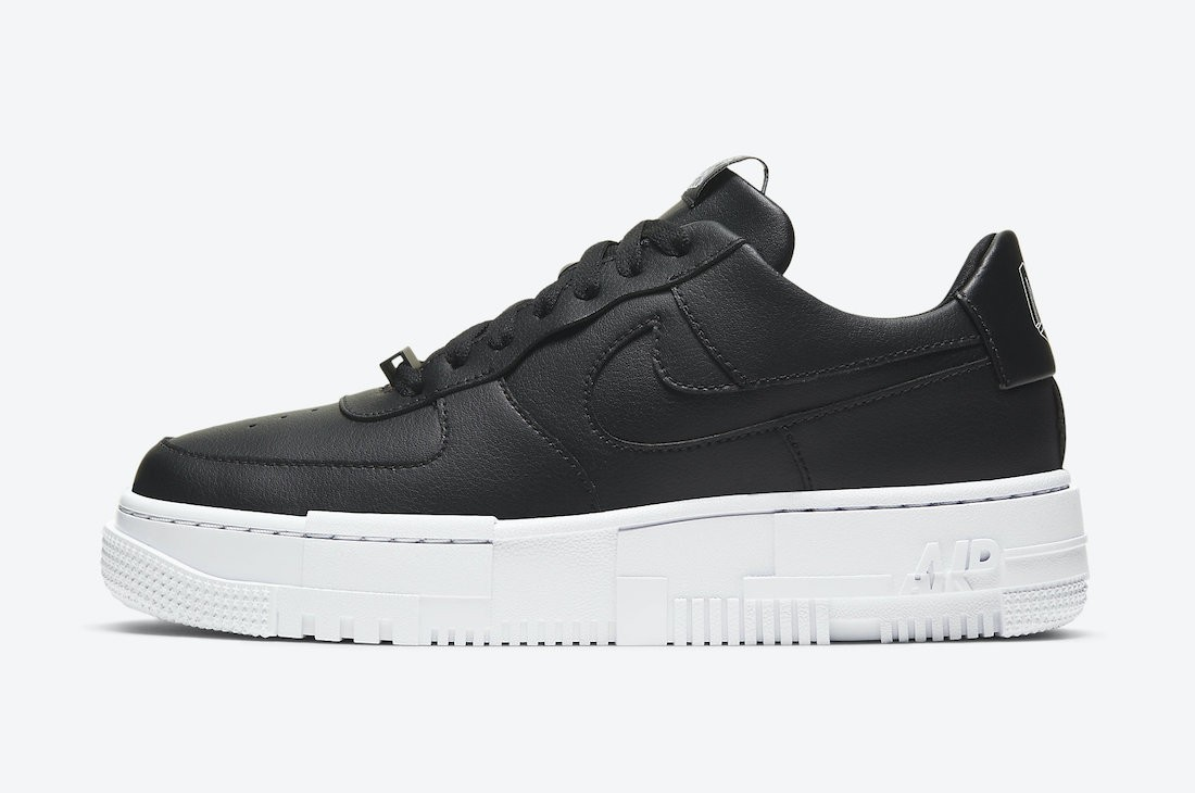 CK6649-001 Nike Donne Air Force 1 Pixel - Nere/Nere-Bianche