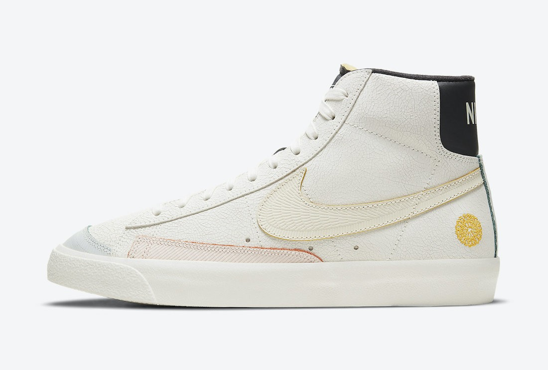 "DC5185-133 Nike Blazer Mid ""Day of the Dead"" Uomo - Bianche/Nere"