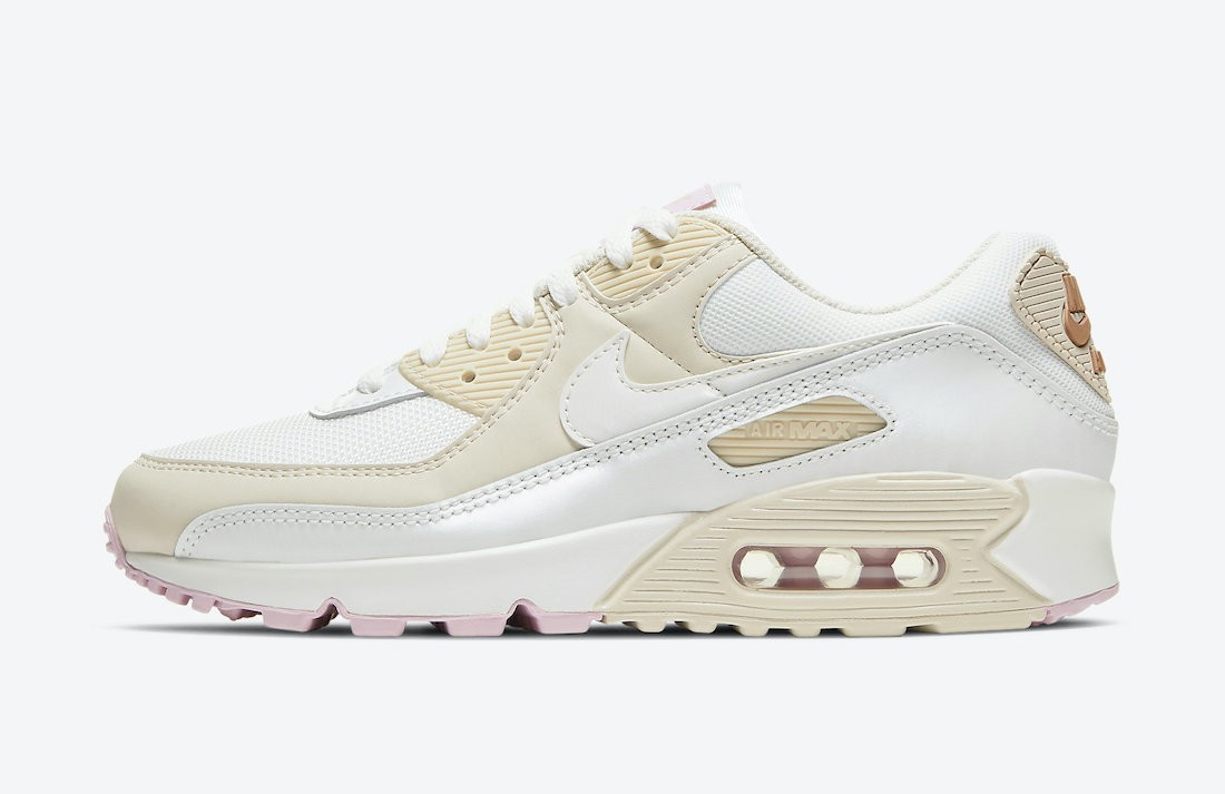 CT1873-100 Nike Donne Air Max 90 - Bianche/Metallic Red Bronze