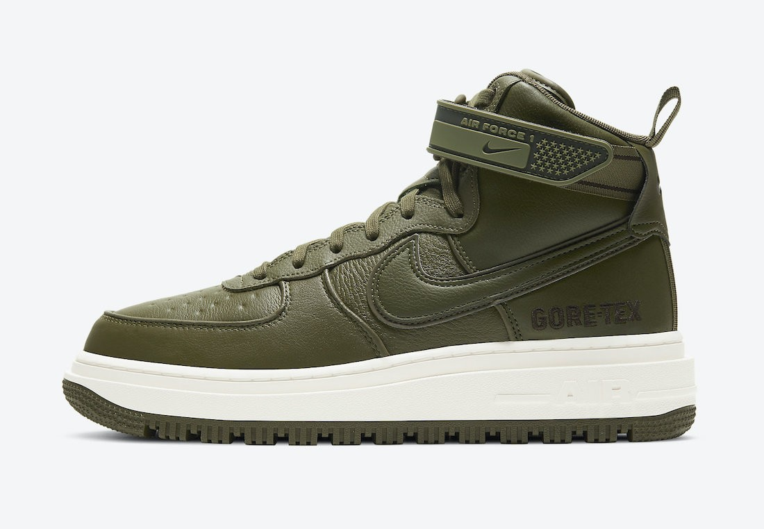 CT2815-201 Nike Air Force 1 Gore-Tex Boot - Olive/Marroni-Sail