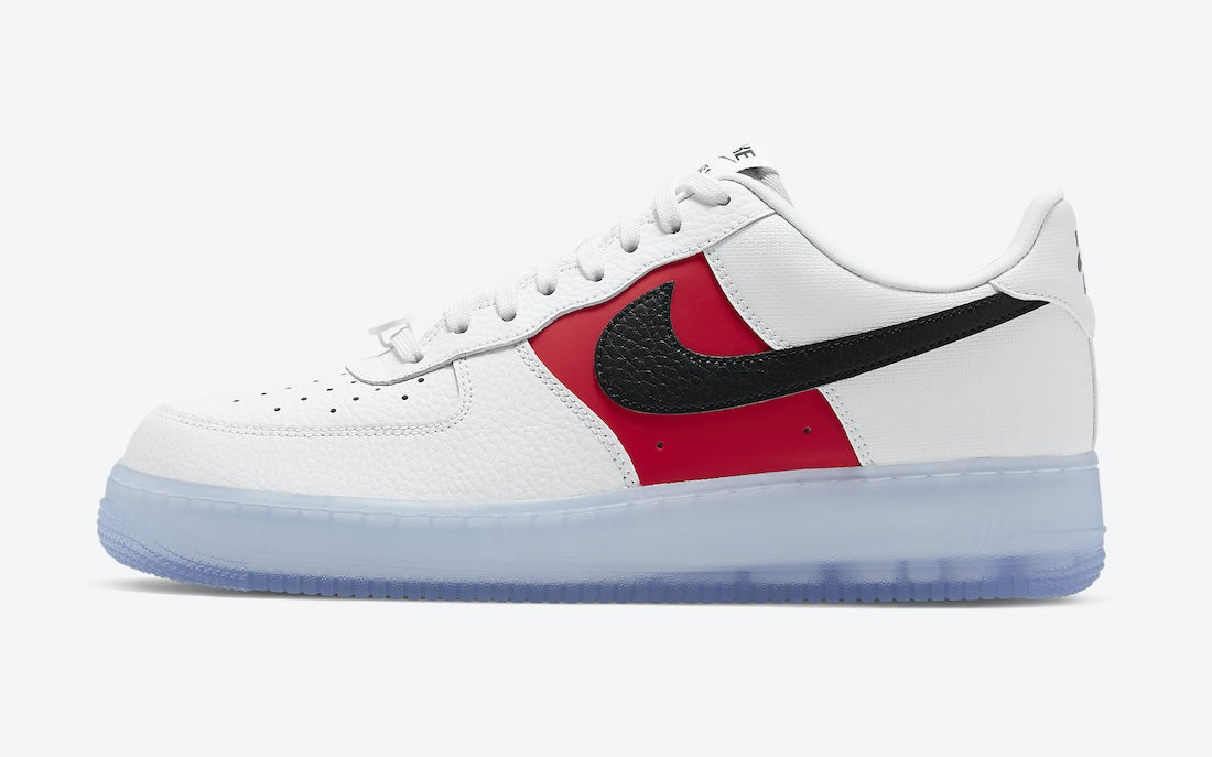 CT2295-110 Nike Air Force 1 Low EMB - Bianche/Rosse-Nere