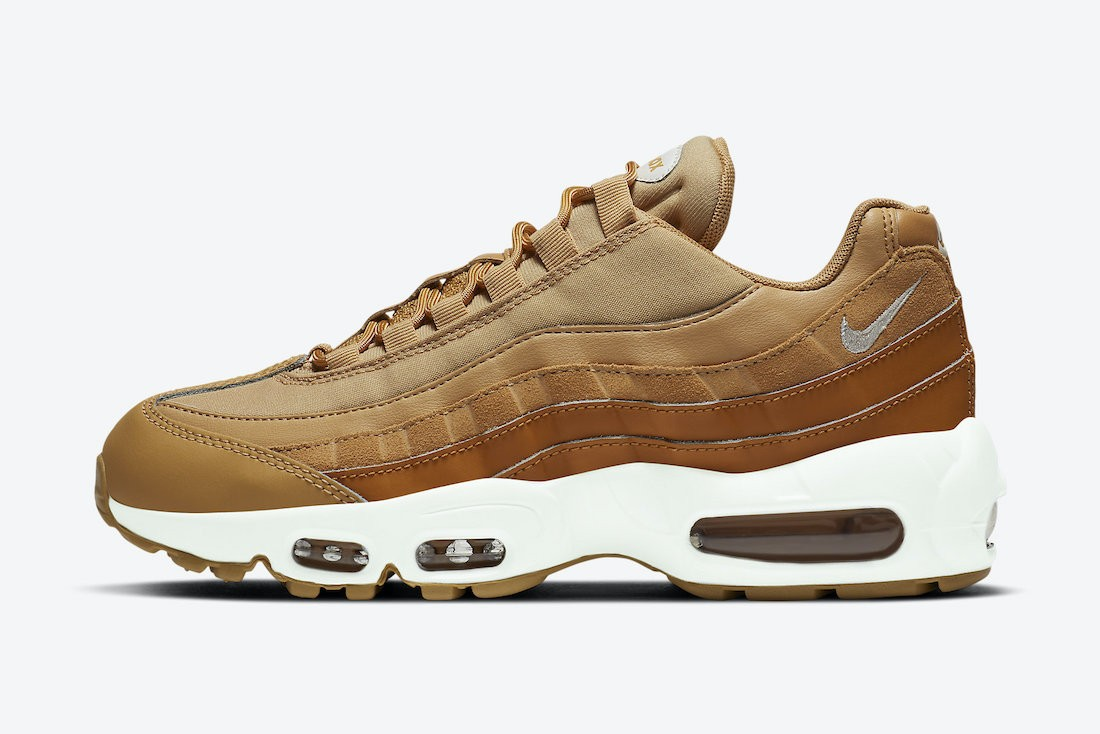 "CZ3951-700 Nike Air Max 95 Donne ""Wheat"" Scarpe - Marroni/Tan-Bianche"