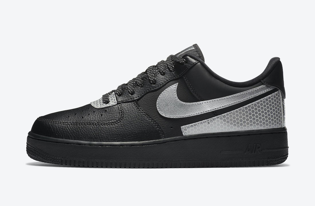 CT2299-001 3M x Nike Air Force 1 Low Scarpe - Nere/Argento