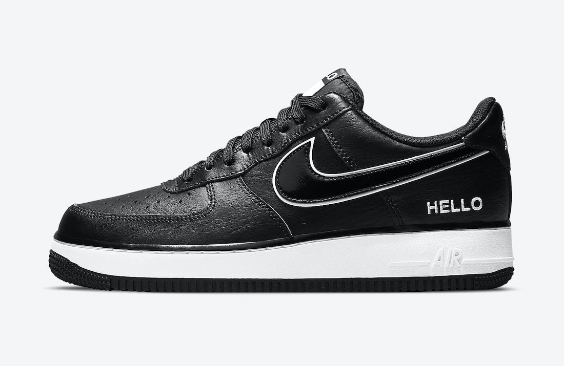 """CZ0327-001 Nike Air Force 1 Low """"Hello"""" - Nere/Nere-Bianche"""