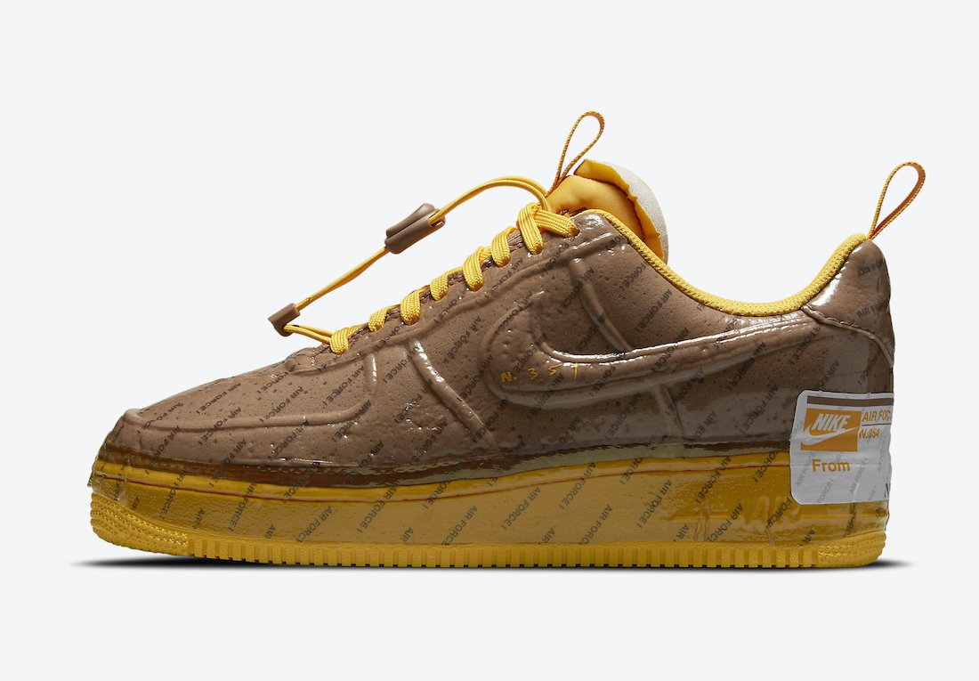 CZ1528-200 Nike Air Force 1 Low Experimental - Marroni/Oro-Bianche