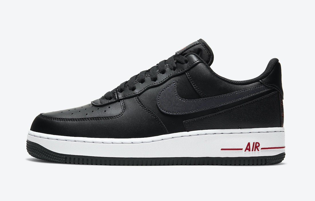 """DD7113-001 Nike Air Force 1 """"Technical Stitch"""" - Nere/Rosse-Bianche"""