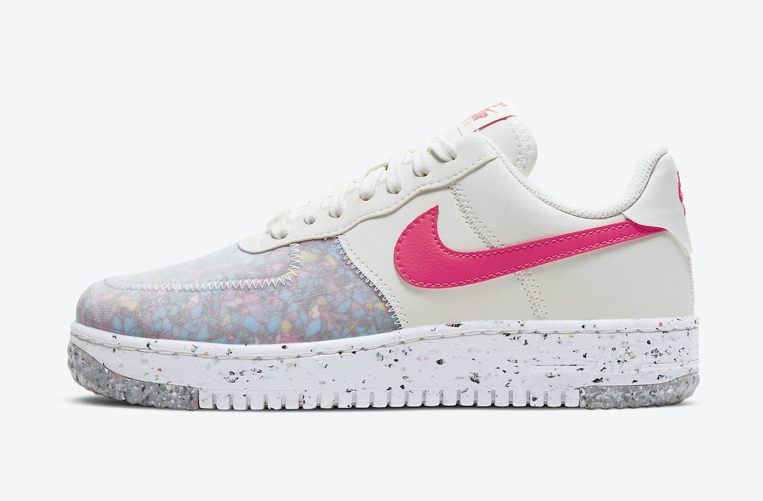 CT1986-101 Nike Donne Air Force 1 Crater - Bianche/Rosse