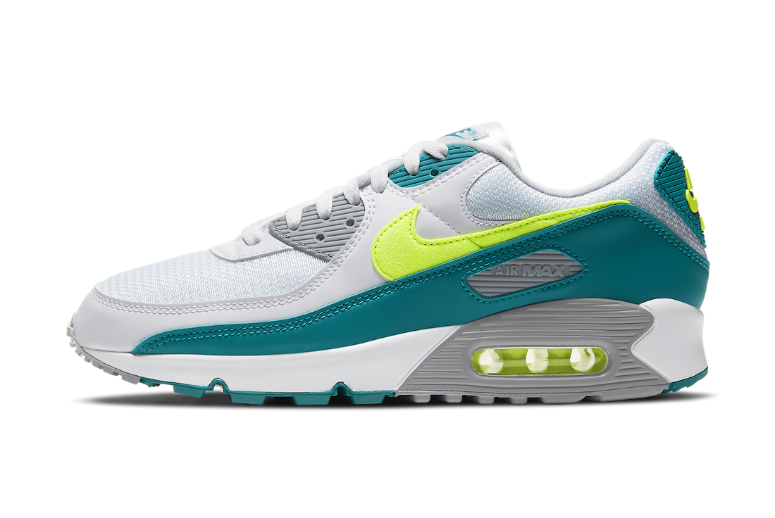 CZ2908-100 Nike Air Max 90 - Bianche/Hot Lime-Spruce-Grigio