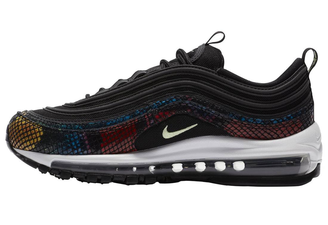 """CW5595-002 Nike Air Max 97 """"Rainbow Snake"""" - Nere/Multi-Color"""