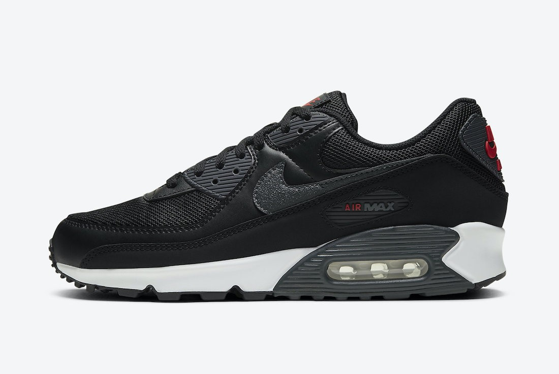 DH4095-001 Nike Air Max 90 - Nere/Rosse-Bianche
