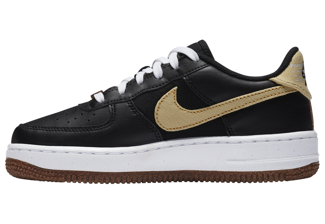 """CZ0338-001 Nike Air Force 1 '07 LV8 """"Pomegranate"""" - Nere/Solar Flare-Bianche"""