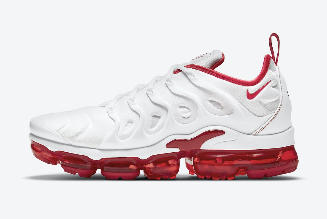 """DH0279-100 Nike Air VaporMax Plus """"Cherry"""" - Bianche/Bianche-Rosse"""
