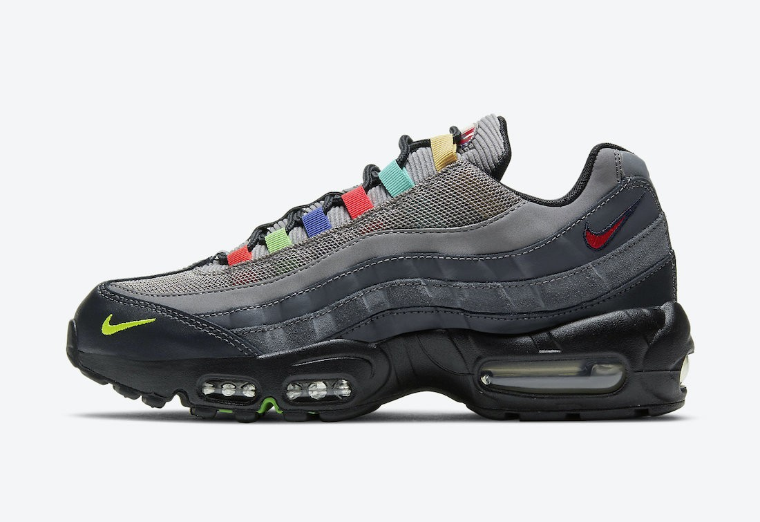 DD1502-001 Nike Air Max 95 SE - Light Charcoal/Rosse-Nere