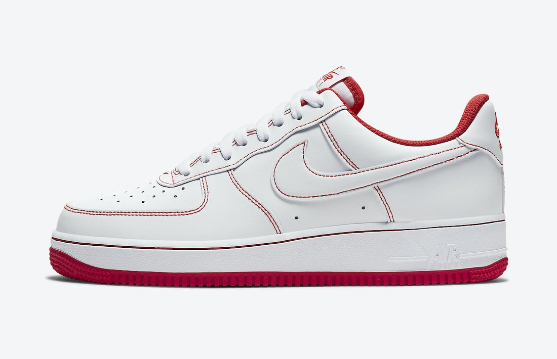CV1724-100 Nike Uomo Air Force 1 Low - Bianche/Bianche-Rosse