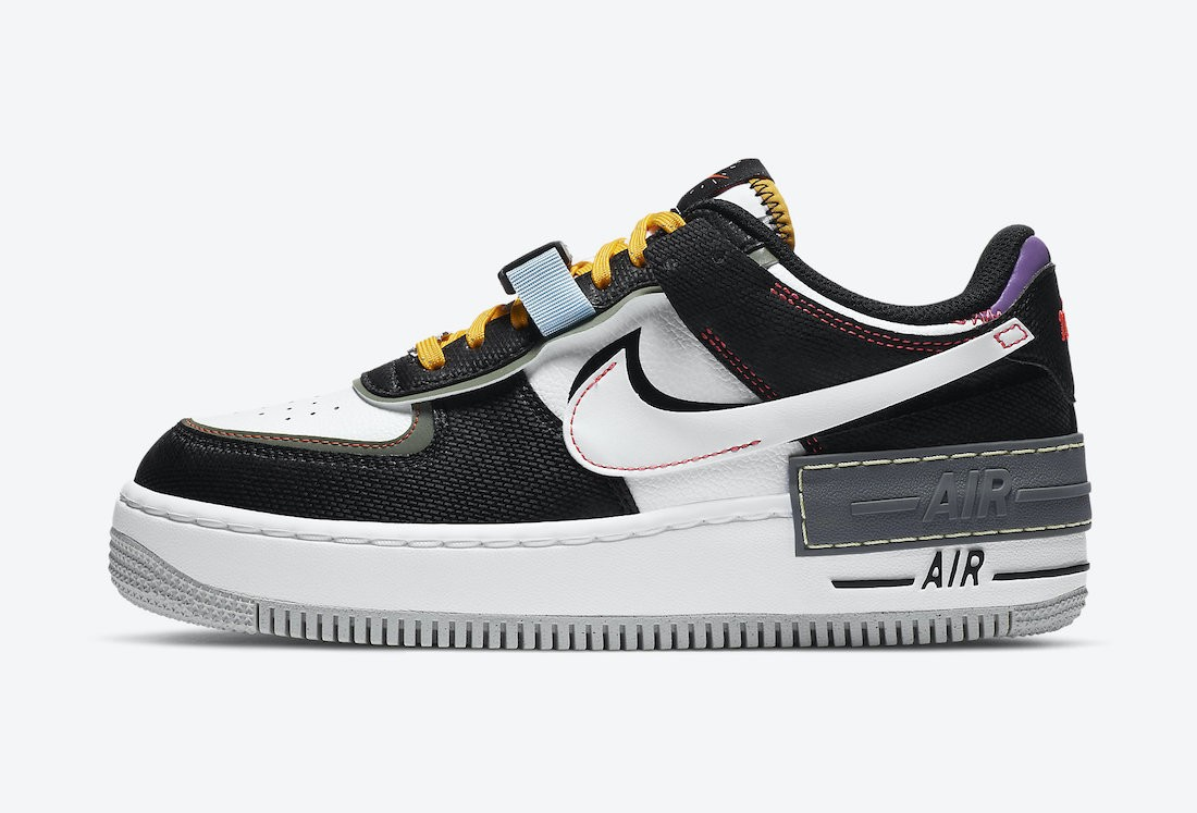 """DC2542-001 Nike Air Force 1 Shadow """"Fresh Perspective"""" - Nere/Bianche-Spiral Sage"""