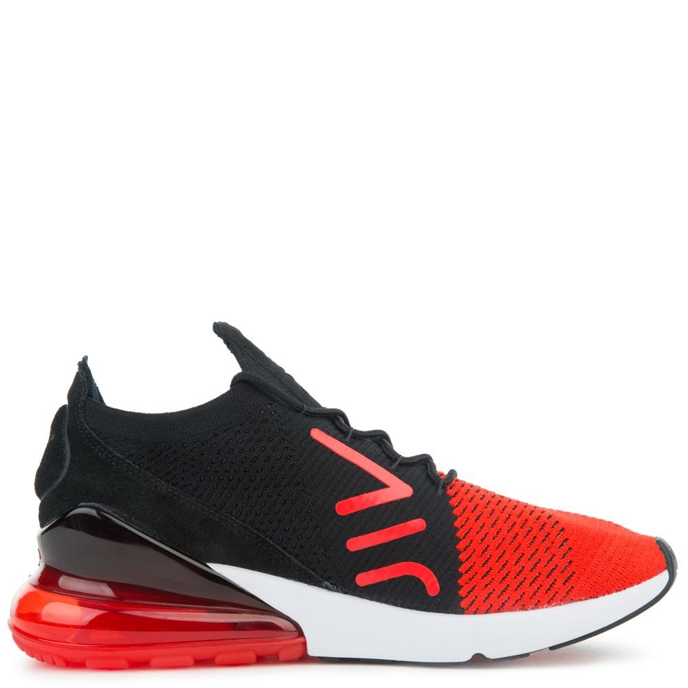 AO1023-601 Nike Air Max 270 Flyknit Scarpe - Rosse/Nere/Bianche