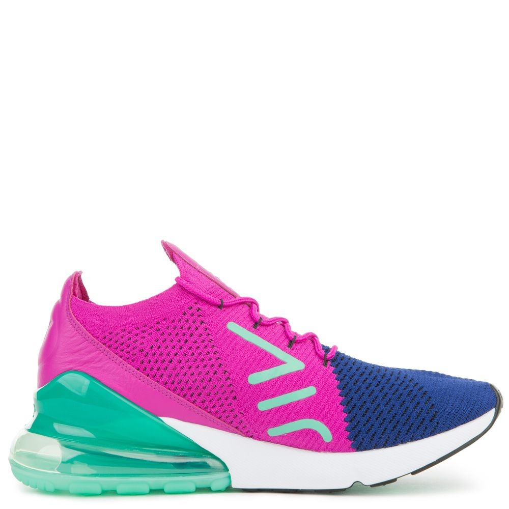 AO1023-401 Nike Air Max 270 Flyknit - Blu/Nere/Fuchsia Flash