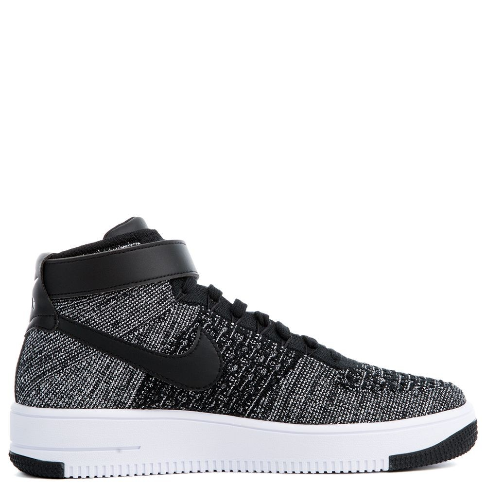 817420-004 Nike Air Force 1 Flyknit Scarpe - Nere/Bianche