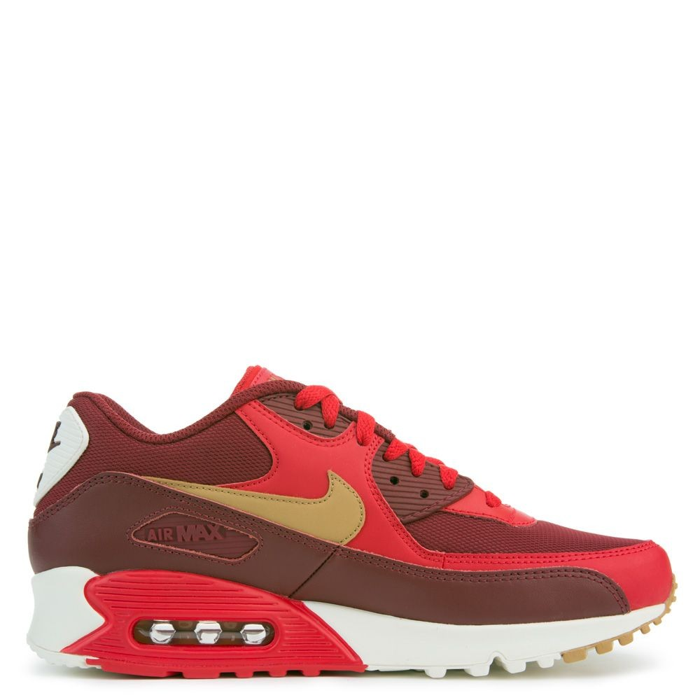 537384-607 Nike Air Max 90 Essential - Game Rosse/Oro/Sail