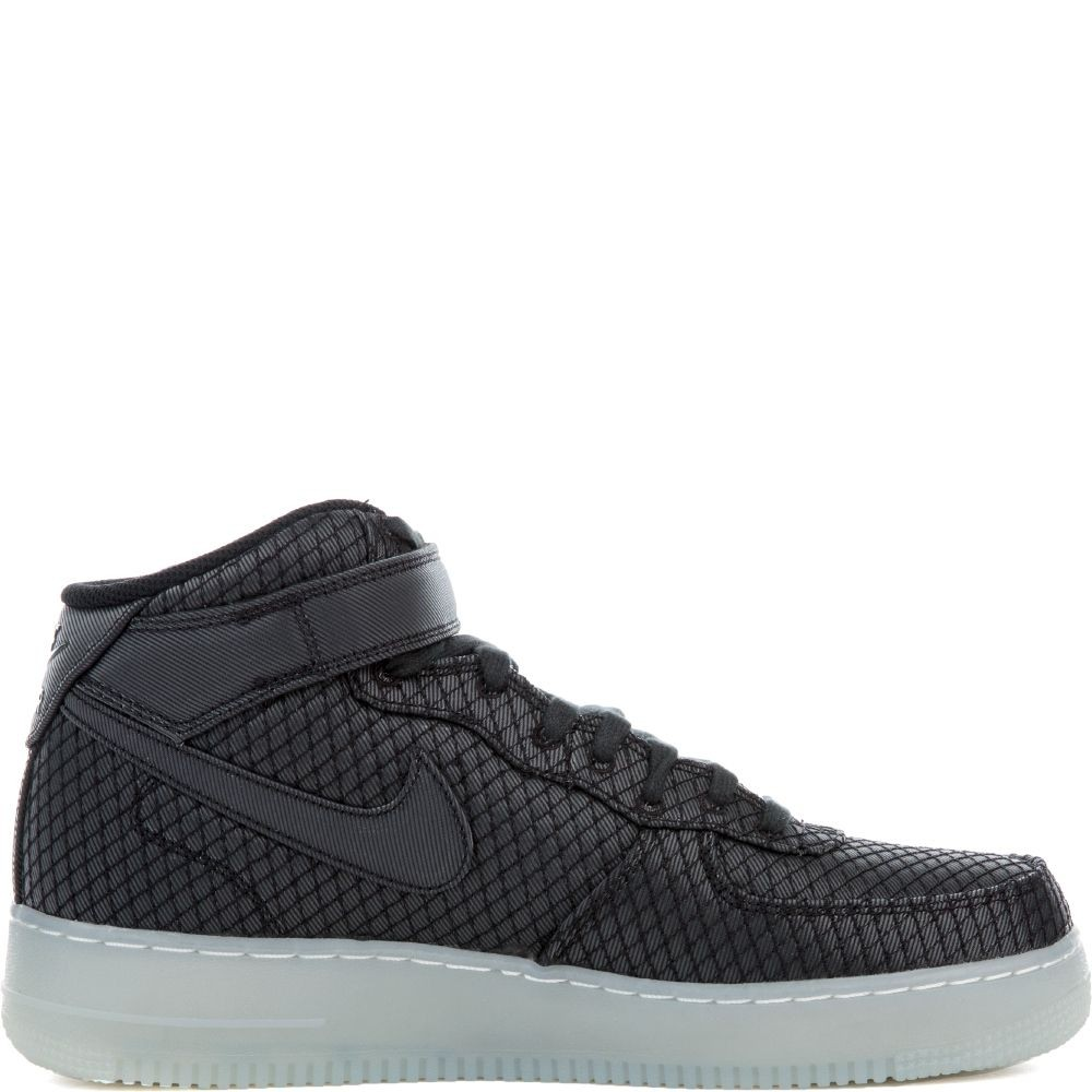 804609-005 Nike Air Force 1 Mid '07 LV8 - Nere/Nere-Bianche-Metallic Silver