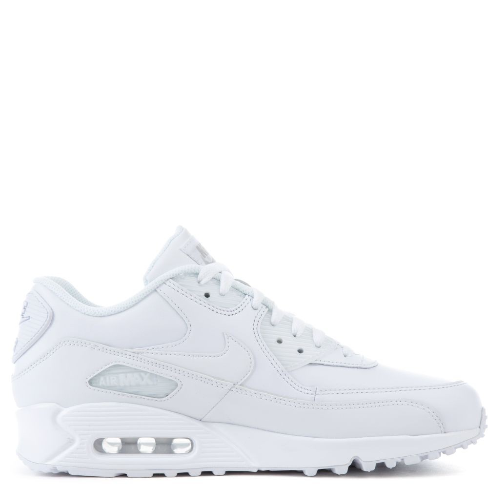 302519-113 Uomo Nike Air Max 90 Leather Scarpe - Bianche/Bianche